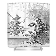 Science Vs. Mother Goose Shower Curtain