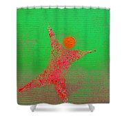 Score Shower Curtain