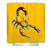 Scorpion Graphic  Shower Curtain by Pixel Chimp