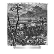 Scotland: Spey Valley Shower Curtain