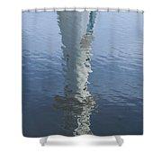 Scott Memorial Lighthouse Reflection Shower Curtain