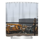 Scrapyard Machinery Shower Curtain
