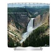 Scripture And Picture Psalms 42 7 Shower Curtain