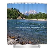 Scripture And Picture Revelation 22 1 Shower Curtain