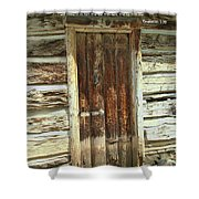 Scripture And Picture Revelation 3 20 Shower Curtain