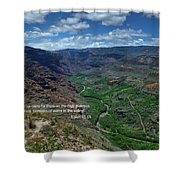 Scriture And Picture Isaiah 41 18 Shower Curtain