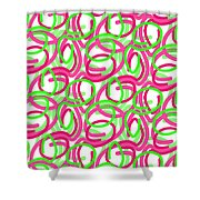 Scroll Shower Curtain by Louisa Knight