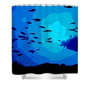 Scuba Dive Shower Curtain