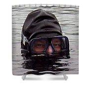 Scuba Diver  Shower Curtain