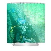 Scuba Diving Shower Curtain