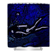 Scuba Girl Shower Curtain