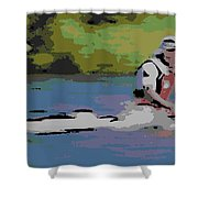 Sculling For The Win Shower Curtain
