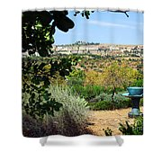 Sculpture Garden In Sicily 2 Shower Curtain