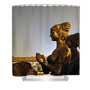 Sculpture Of A Woman Shower Curtain