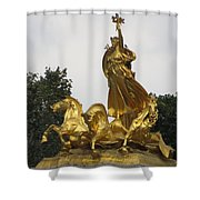 Sculpture Of Columbia Triumphant  Shower Curtain