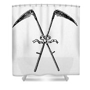 Scythes, 19th Century Shower Curtain
