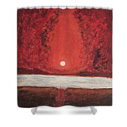 Sea And Moon Shower Curtain