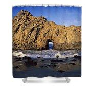 Sea Arch At Pfeiffer Beach Big Sur Shower Curtain