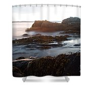 Sea At Sunset Shower Curtain