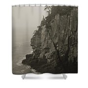 Sea Cliff At Quoddy Head  Shower Curtain
