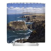 Sea Cliffs And Coastline Near Erris Shower Curtain