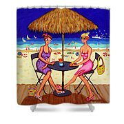Sea For Two - Girlfriends At Beach Shower Curtain