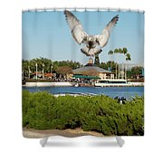 Sea Gull With Full Flaps Shower Curtain