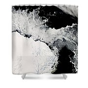 Sea Ice In The Southern Ocean Shower Curtain