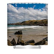 Sea Landscape With Bay Beach Shower Curtain