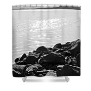 Sea Of Galilee In Black And White Shower Curtain