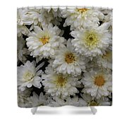 Sea Of White Flowers Shower Curtain