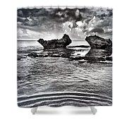 Sea Ripples Shower Curtain