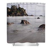 Sea Rocks And Surf Shower Curtain