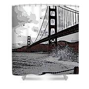 Sea Spray Under The Golden Gate Bridge Shower Curtain