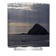Sea Stack On The Oregon Coast Shower Curtain
