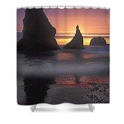 Sea Stacks Off The Oregon Coast Shower Curtain