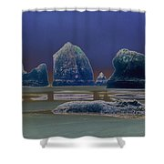Sea Stacks On The Oregon Coast Shower Curtain