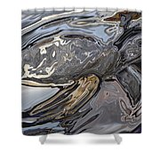 Sea Turtle At Risk Shower Curtain
