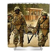 Seabees Conduct A Mass Casualty Drill Shower Curtain