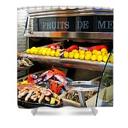 Seafood Market In Nice Shower Curtain