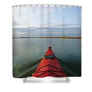 Seakayak Bow Parts The Rippled Water Shower Curtain