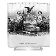 Seal Of New York, 1870 Shower Curtain