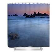 Seal Rock Dusk Shower Curtain