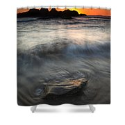 Seal Rock Sunset Shower Curtain