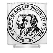 Seal: Washington & Lee Shower Curtain