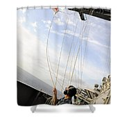 Seaman Raises The Foxtrot Flag Shower Curtain