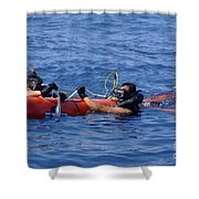 Search And Rescue Swimmers Retrieve Shower Curtain