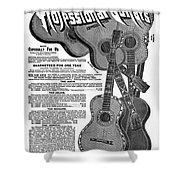 Sears Ad - Guitars 1902 Shower Curtain