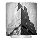 Sears-willis Tower Chicago Shower Curtain by Paul Velgos