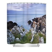 Seascape From Coast Of Clogherhead Shower Curtain